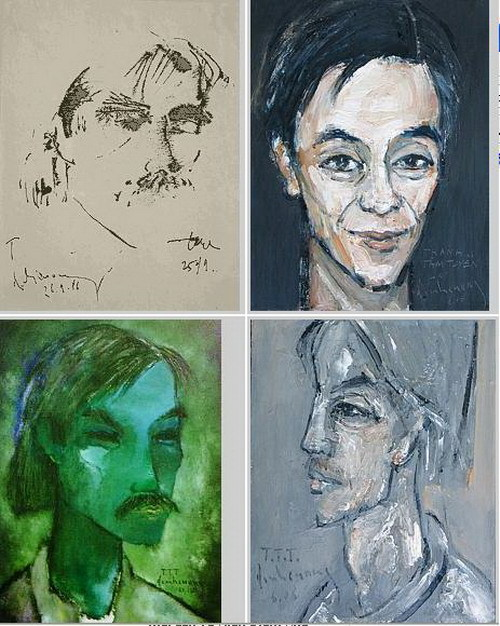 collage of Thanh Tam Tuyen portraits